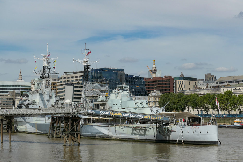 Another famous battleship, HMS Belfast, but this time slightly more modern than Nelson