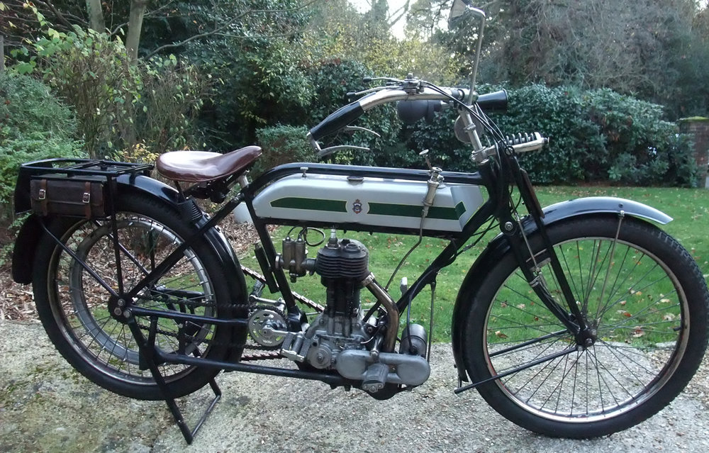 The 1914 Triumph in repose. Image Paul Gander