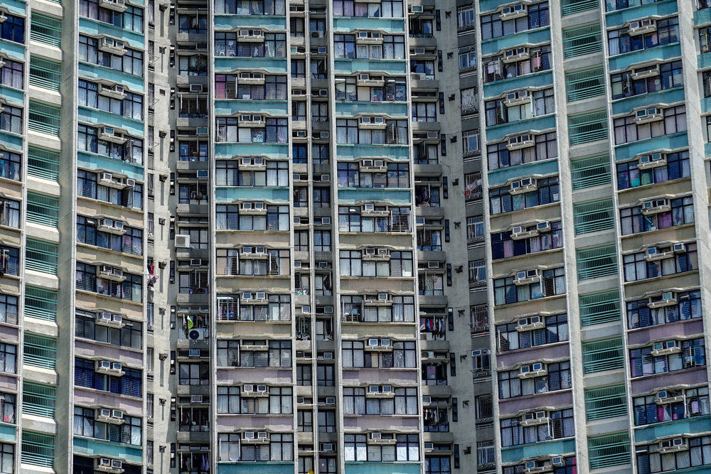 Hong Kong cliché, one of the hundreds of tower blocks, taken at 1/500s, f/4.5, 125mm