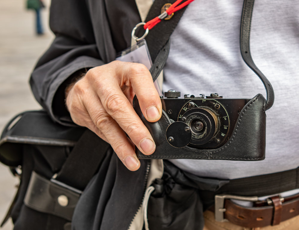 A working Ur-Leica, no less, and not the one from the deepest vaults at Wetzlar. This Ur-Leica replica was turned into a working camera by George A. Furst in South Korea and he used it throughout the weekend. We are looking forward to seeing some of the results