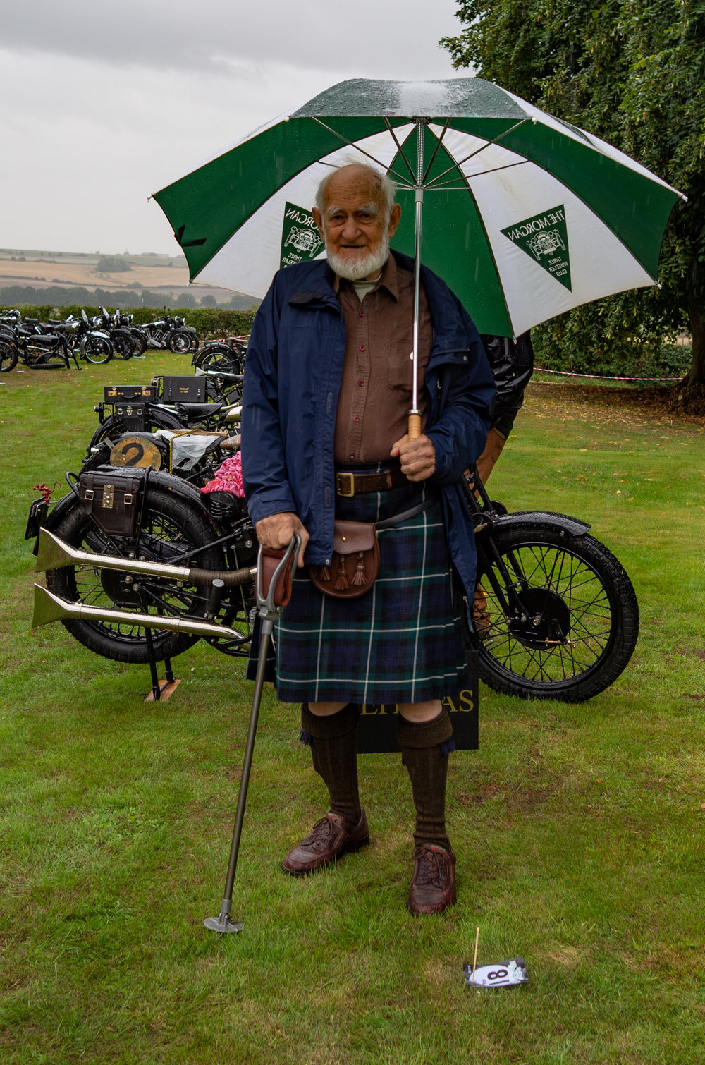 Reverend Michael Staines, one of the earliest members of the Brough Superior Club. He has been a member for 60 years. Will my Leica X2 be paraded out for the faithful in 60 years' time? I wonder.