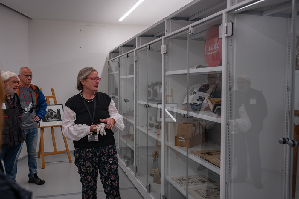 The Leica Archive has been shunted around over the past 40 years but has now found a permanent and very special home at the Leitz Park. Monika Bock, seen here, is dedicated to caring for the vast amount of material that has been collected over the years. Dr. Kaufmann recently bought the extensive Fricke Collection but we were not allowed to take any pictures of the cameras,