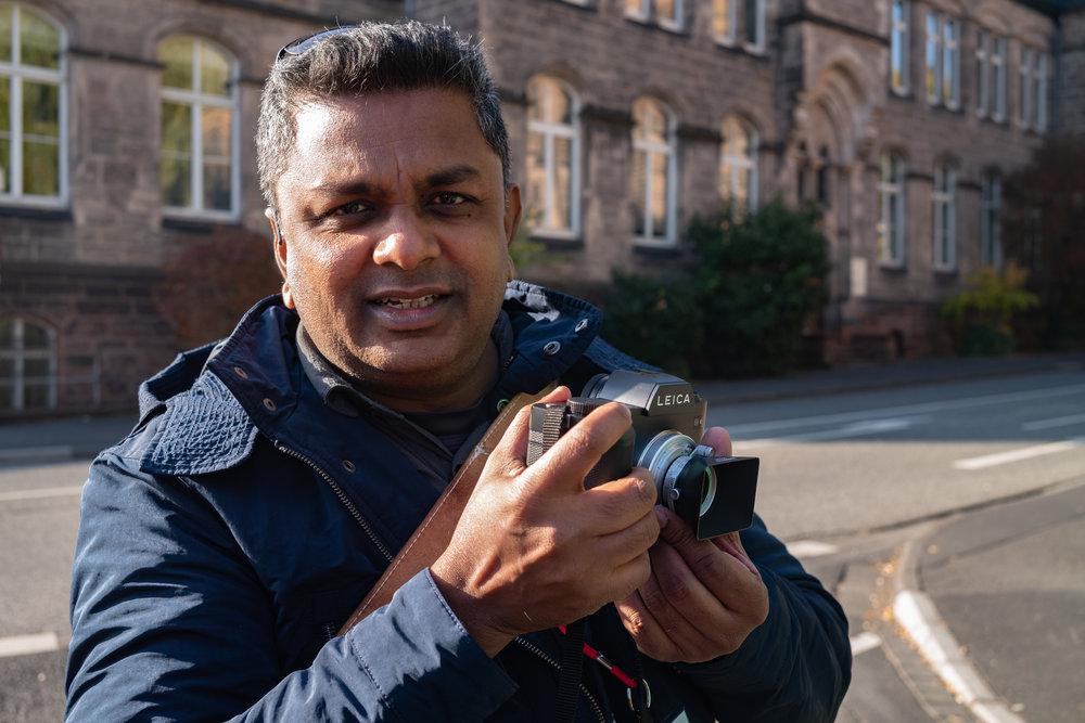 Kannan Palanisamy from Copenhagen with his SL and new 28mm f/5.6 Summaron