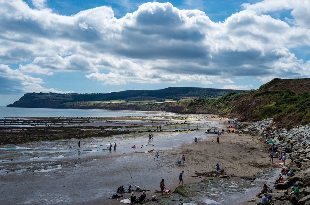 The view from Robin Hoods Bay towards Ravenscar.