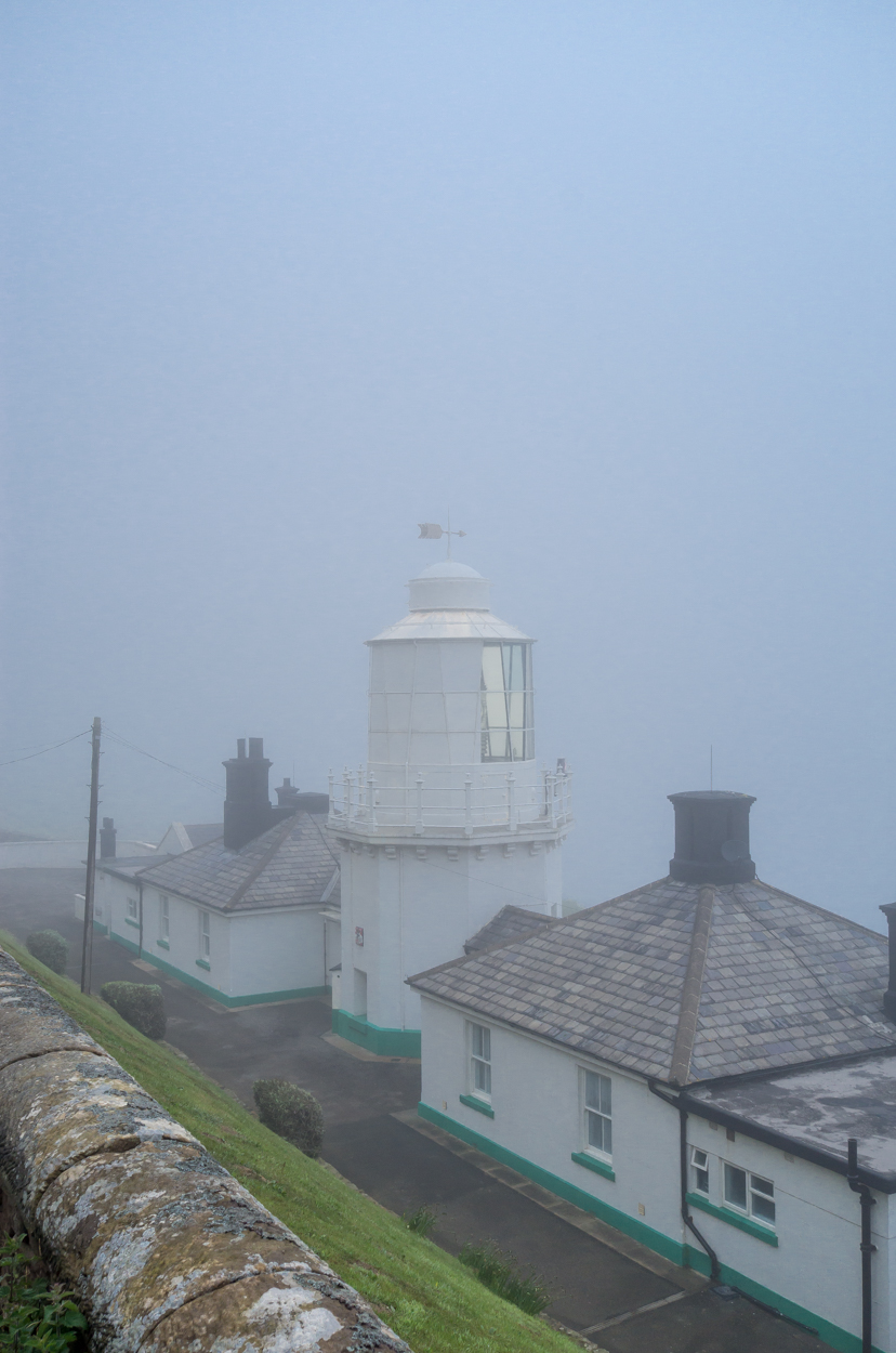 The Old Whitby Lighthouse in the fog