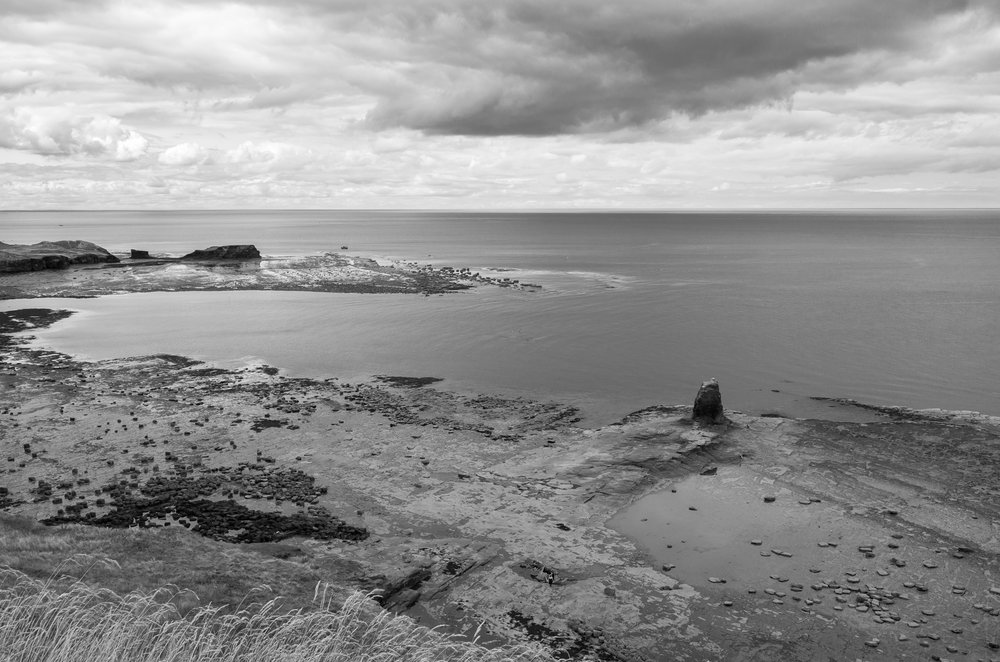 he view over Saltwick Bay - spot the Goth being photographed on the Admirals Wreck