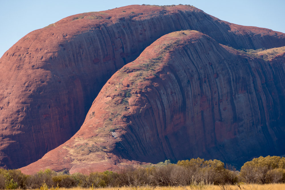 Close up of Mount Olga from the south-west, Leica CL and 55-135mm lens.