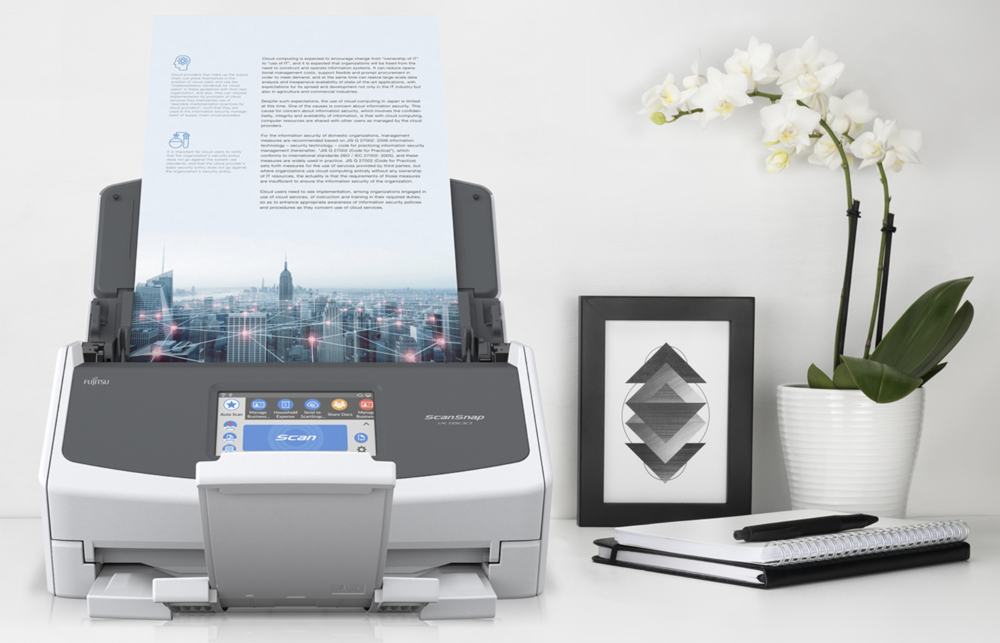 The new ScanSnap IX1500 is a fast and accurate means of turning all your paper into searchable files and is the open gate to the shredding machine (Image Fujitsu)