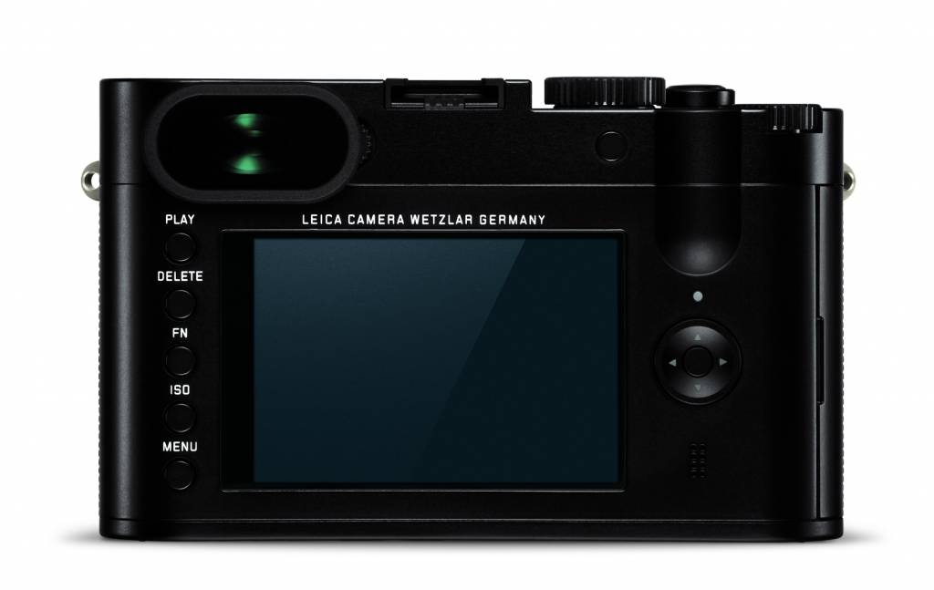 The back of the current Leica Q with the five button layout