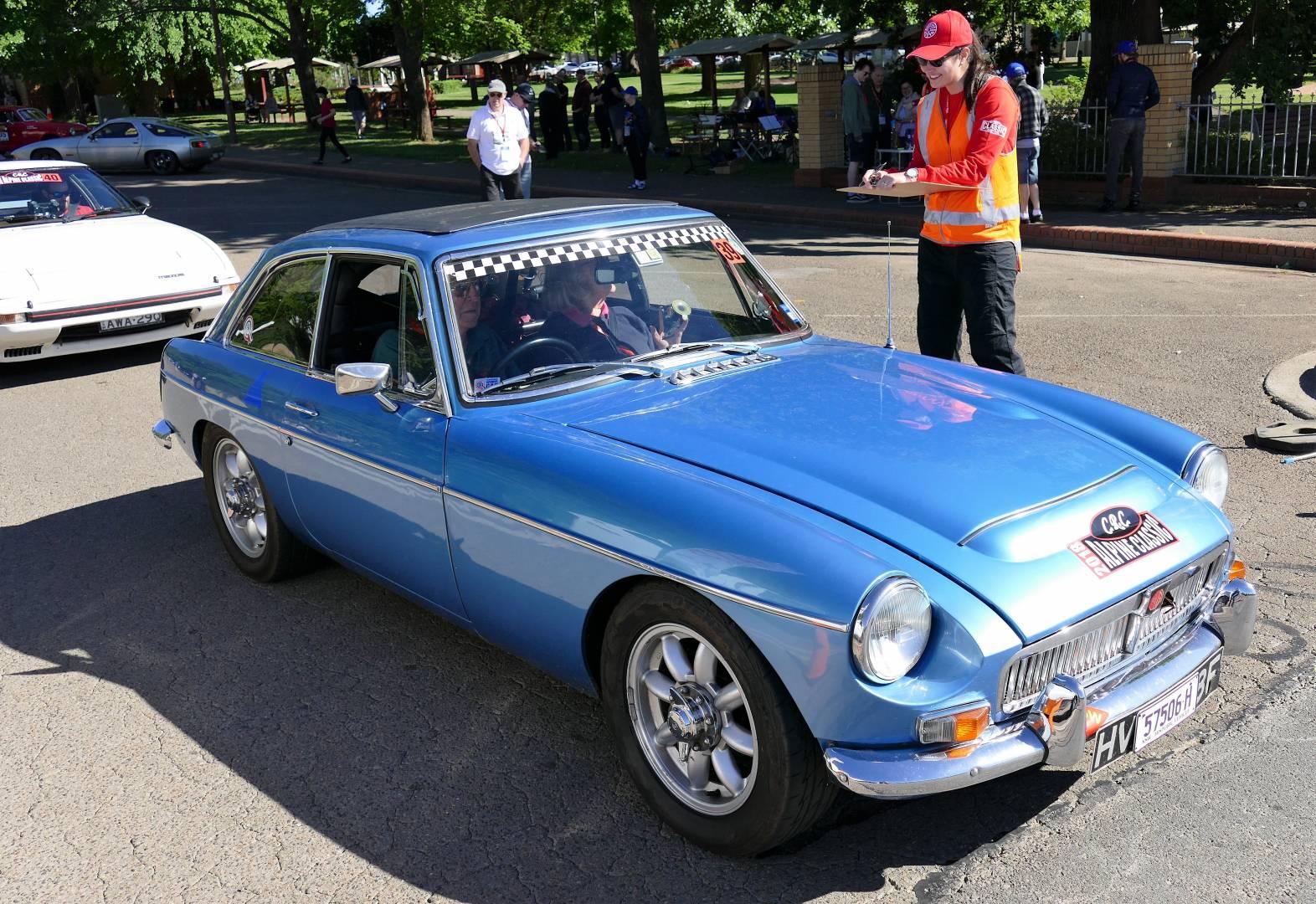 Blue 1968 MGB