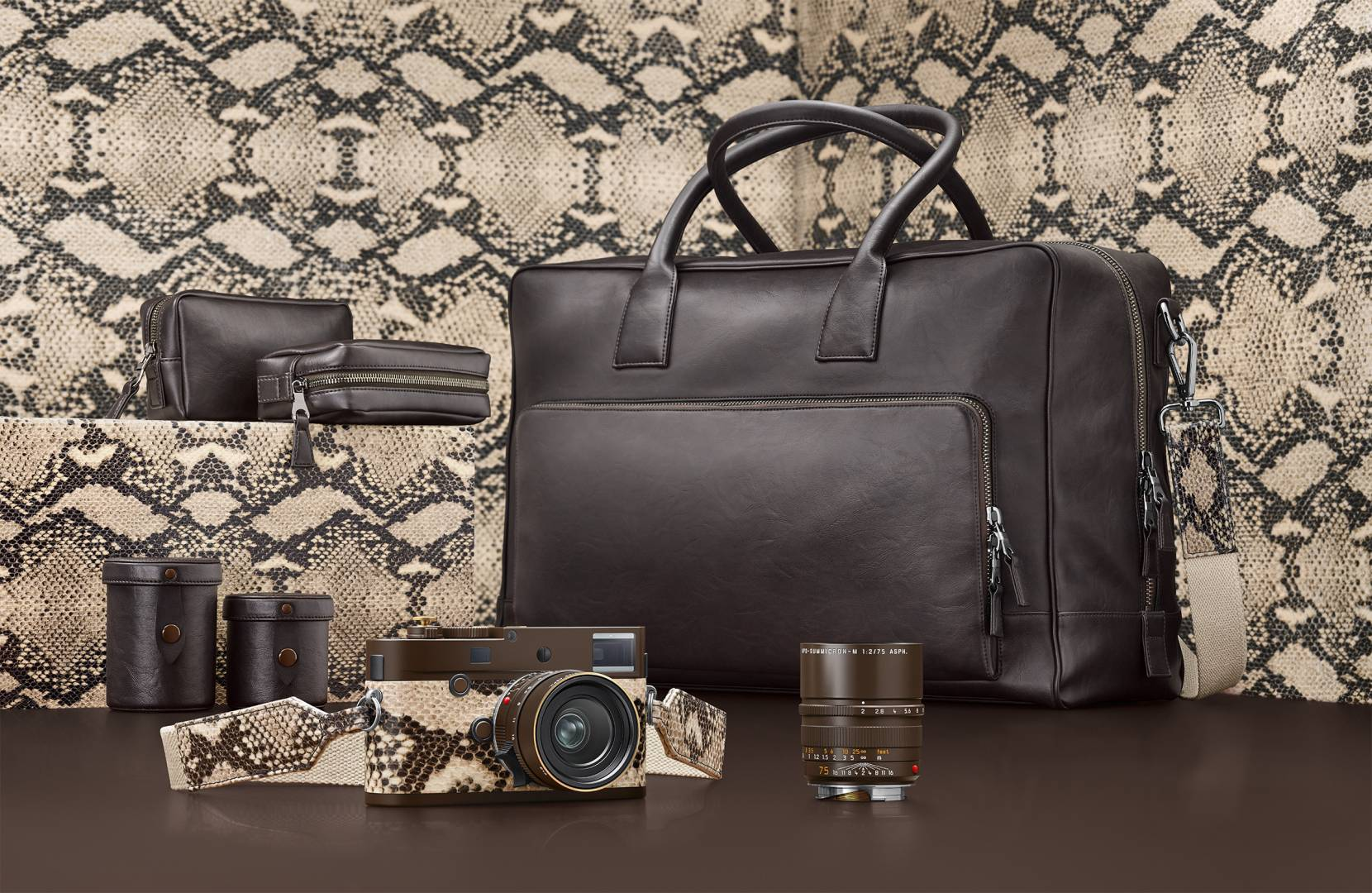It's the complete works and not a bit of real animal skin in sight. The Kravitz Drifter Leica Monochrom edition costs £20,500.