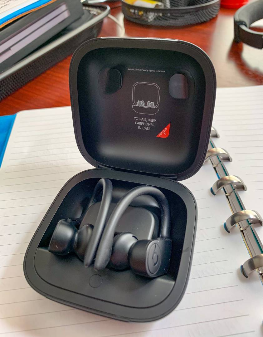 The charging case for the PowerBeats Pro is huge — at least in comparison with that of the AirPods. But it offers a much greater battery life. The ear pods themselves also hold a nine-hour charge so you can safely leave the case at home if you don't want to carry it around.
