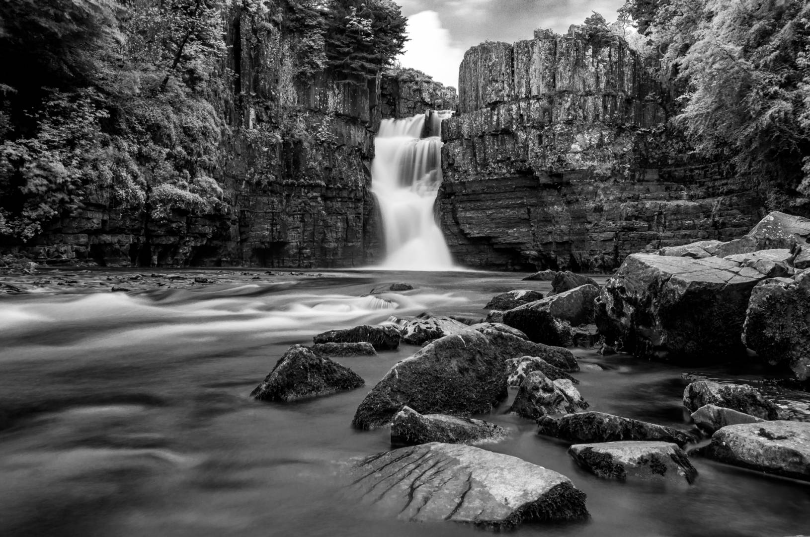 High Force, low-level shot with the Leica X tripod-mounted