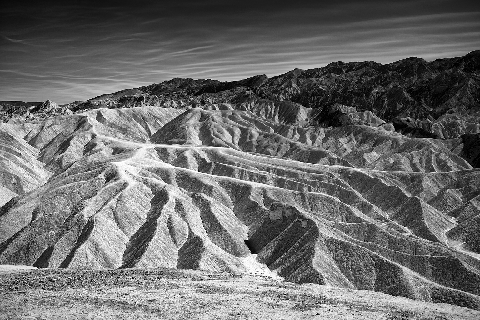 Eroded canyonscape at Zabriskie Point, Death Valley
