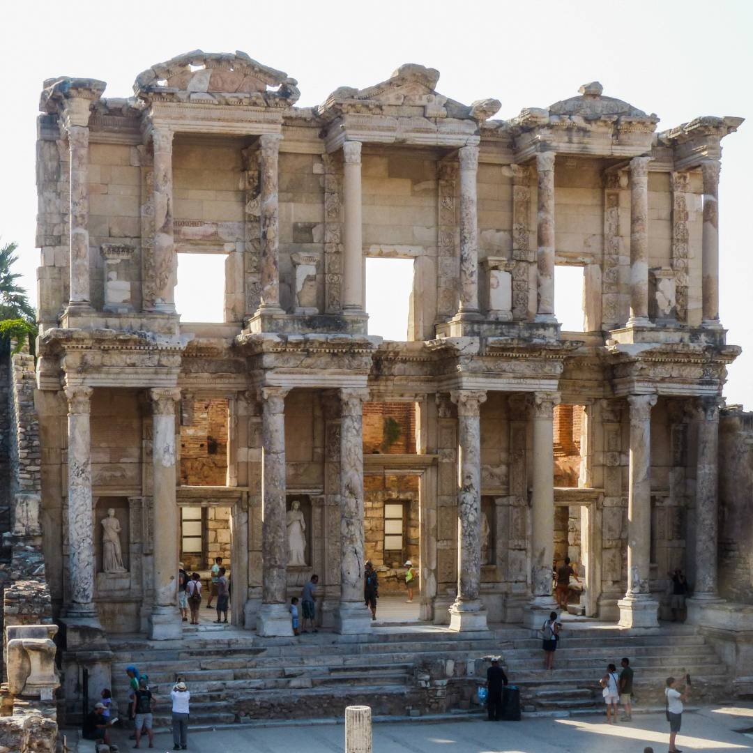 The Library of Celsus in the evening light