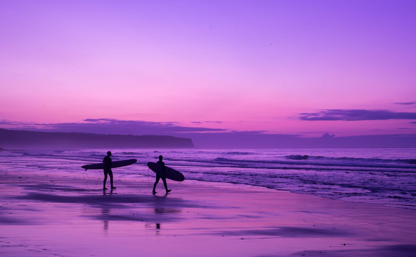 Surfer Dudes at Sunset - Processed in Lightroom - Nikon Df