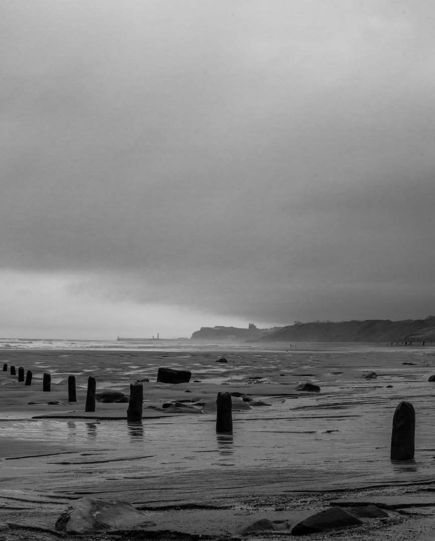 Sandsend Groynes view to Whitby - Nikon Df
