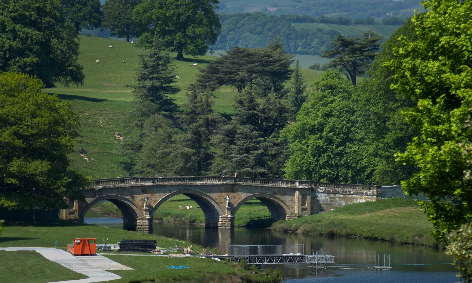 Chatsworth House - Approach Bridge, 22nd May 2018. Fujifilm XT2 - with 50-140mm F2.8 at 140mm, 1/480s, f/9 ISO 200