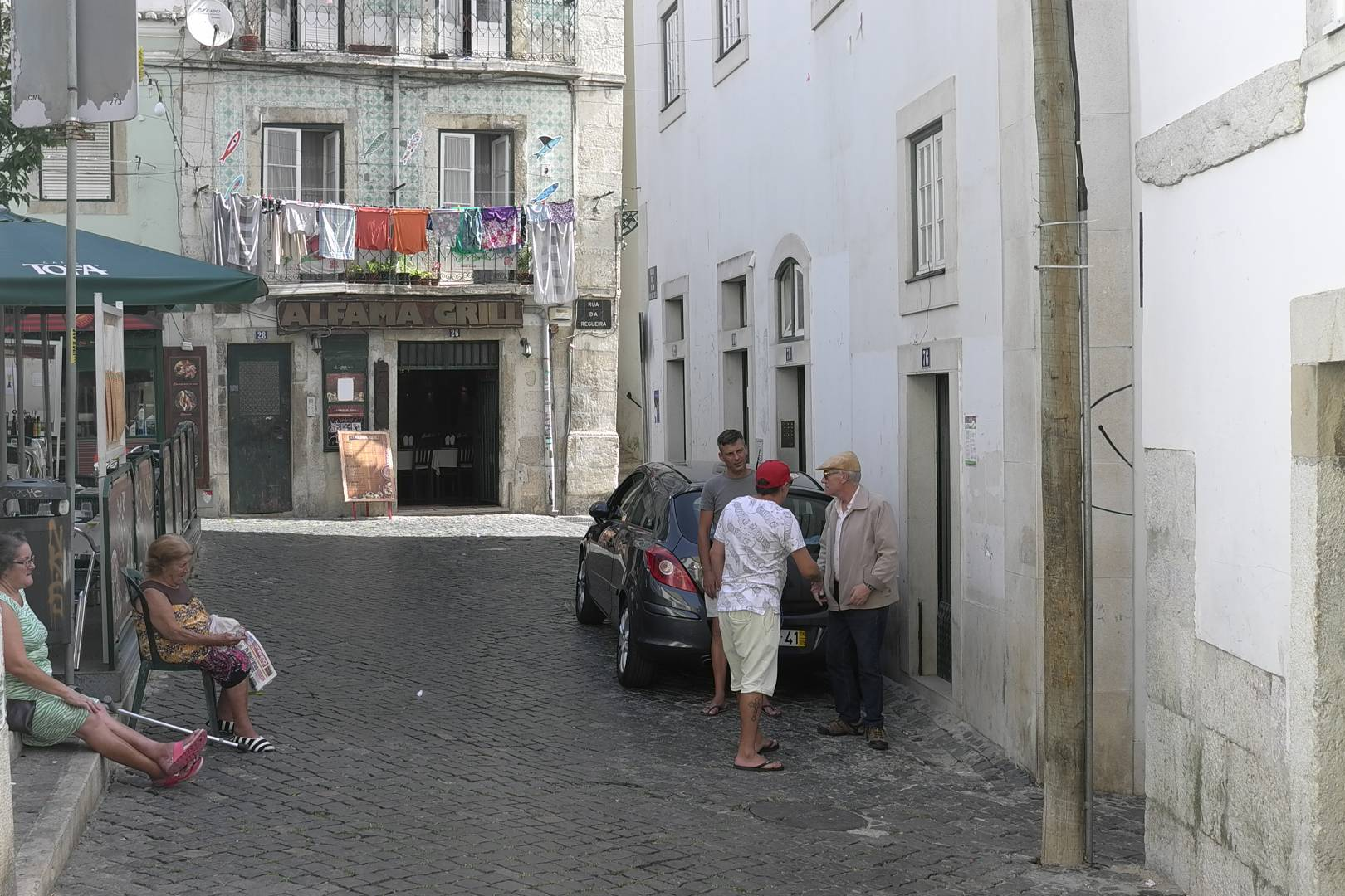 Alfama, old quarter Lisbon in 2016. I suspect this scene has now disappeared.