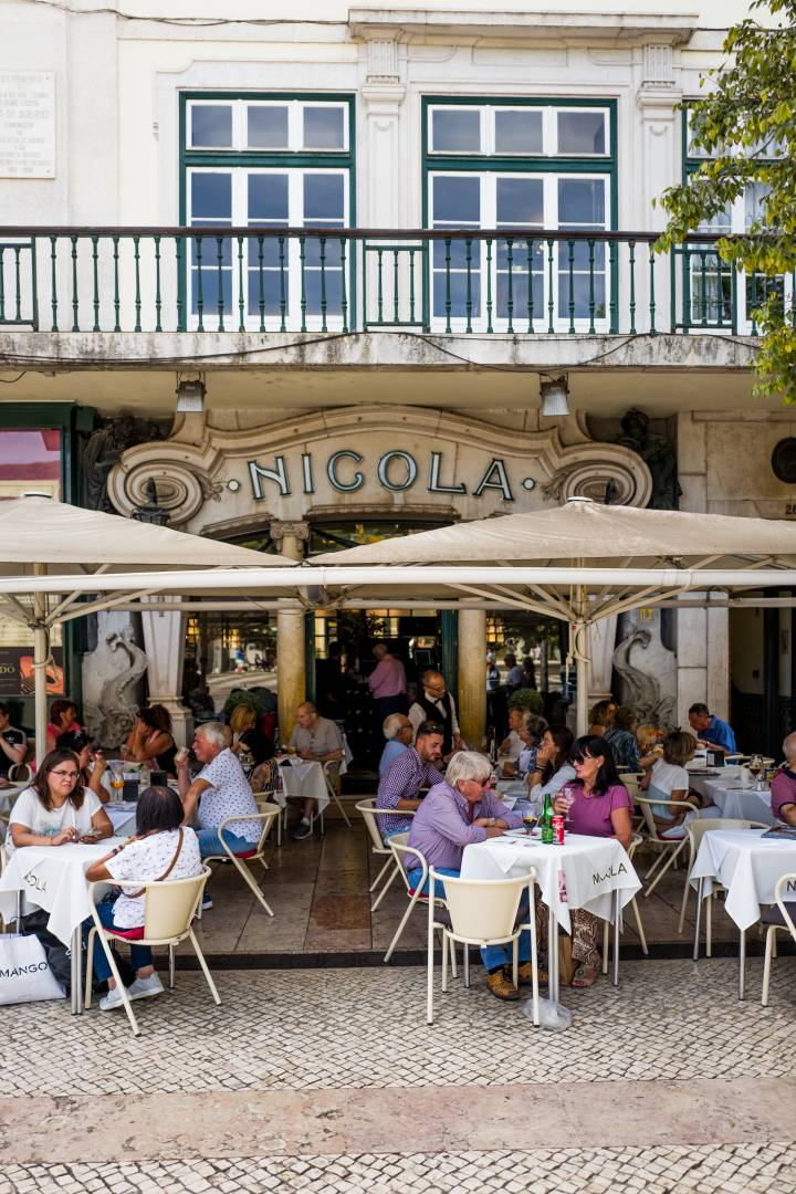 Nicola cafe. Vintage Lisbon. Close to the Madeira shop.