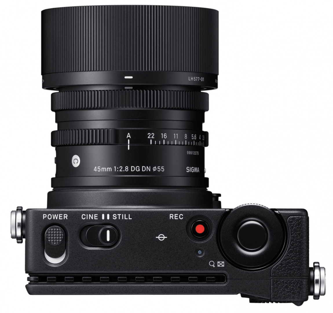 Sigma's cine-centric fp will cost less than expected. The 45mm f/2.8 lens seen here has already been a hit with L-mount stills photographers because of its small size and realistic price