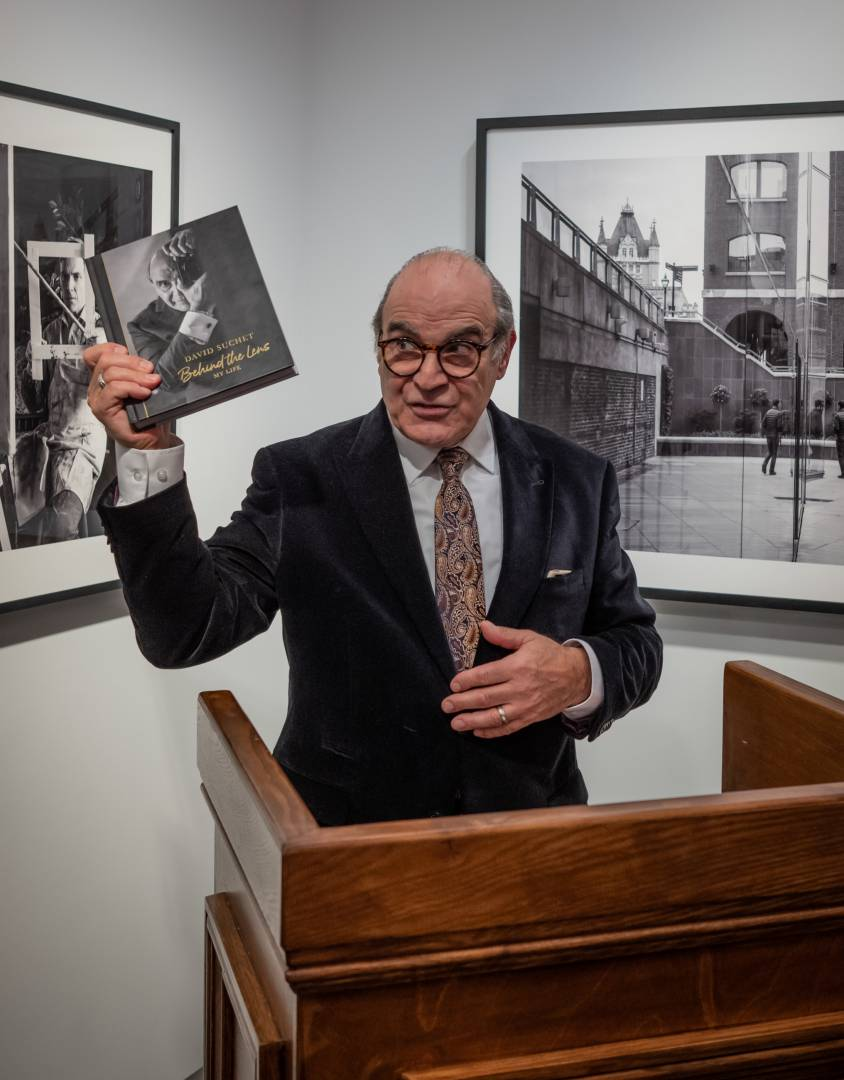 David Suchet launches his new book, Behind The Lens: My Life at a party at the Leica Duke Street gallery in London. (Image Tony Cole)