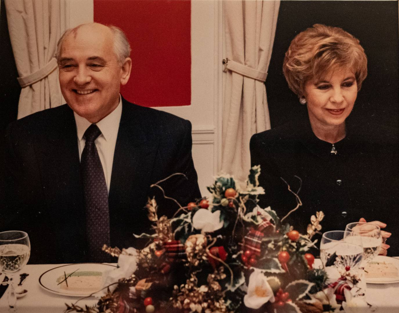 Mikhail and Raisa Gorbechev at dinner in your editor's former Little College Street offices.