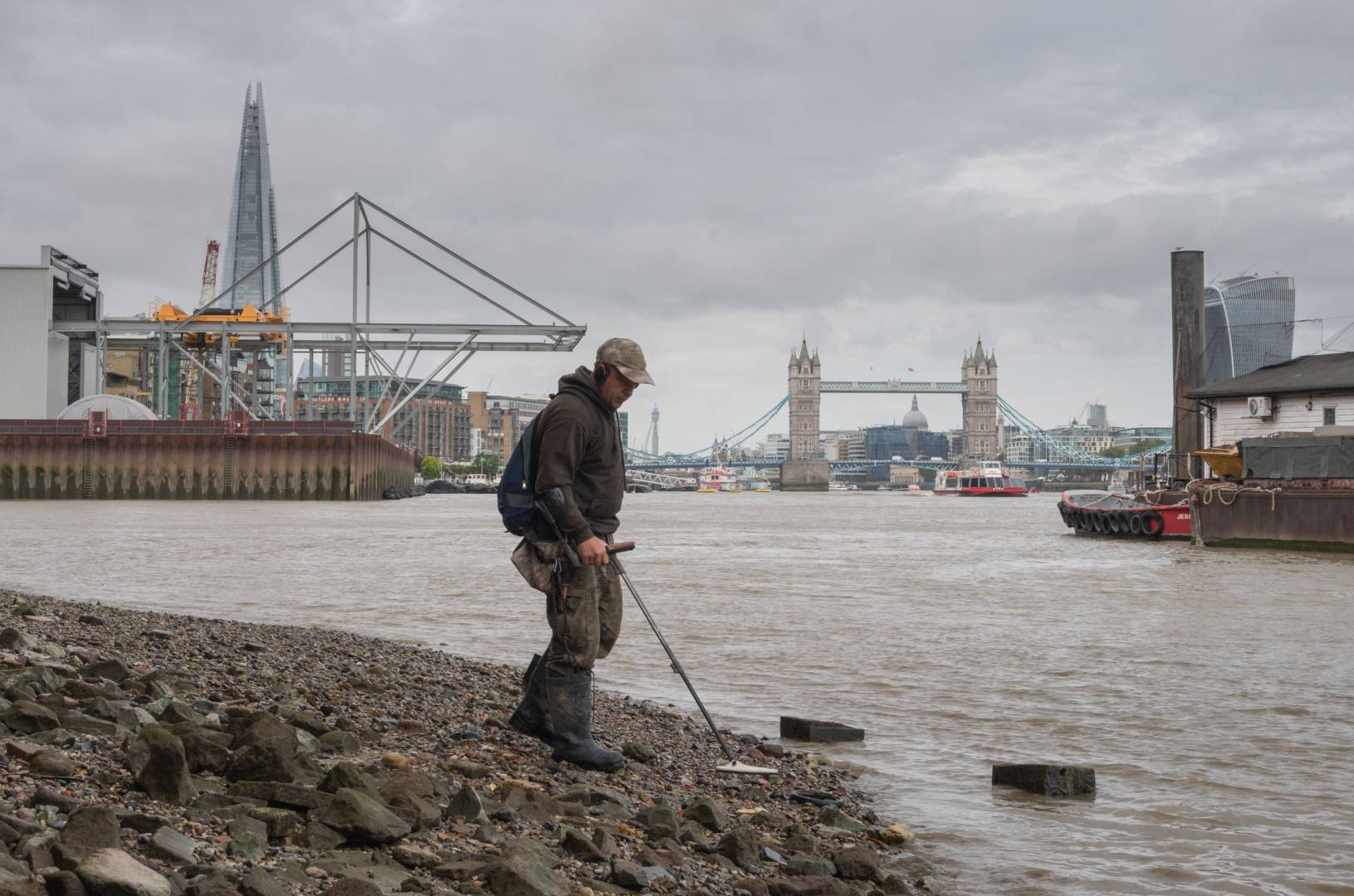 Using a modern metal detector to search for ancient treasures
