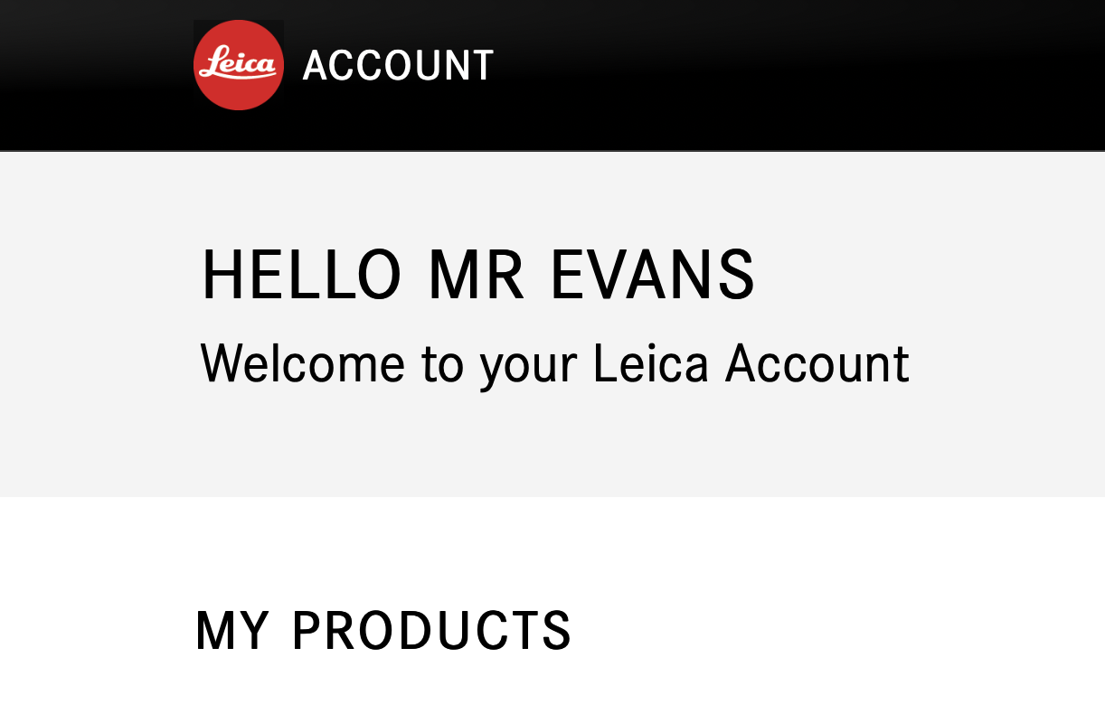 Leica Owners' Area updated and ready for business