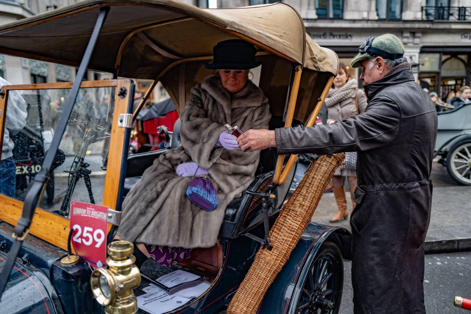 Wicker umbrella case — and a stiff whisky to keep the memsahib happy