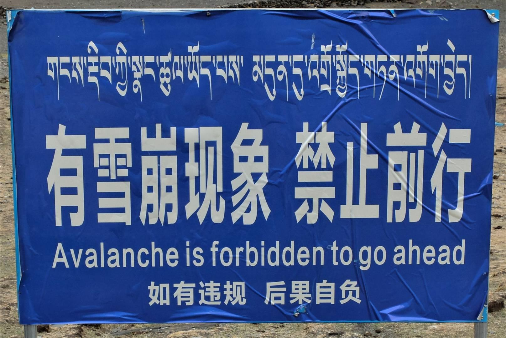 Heed the warning sign