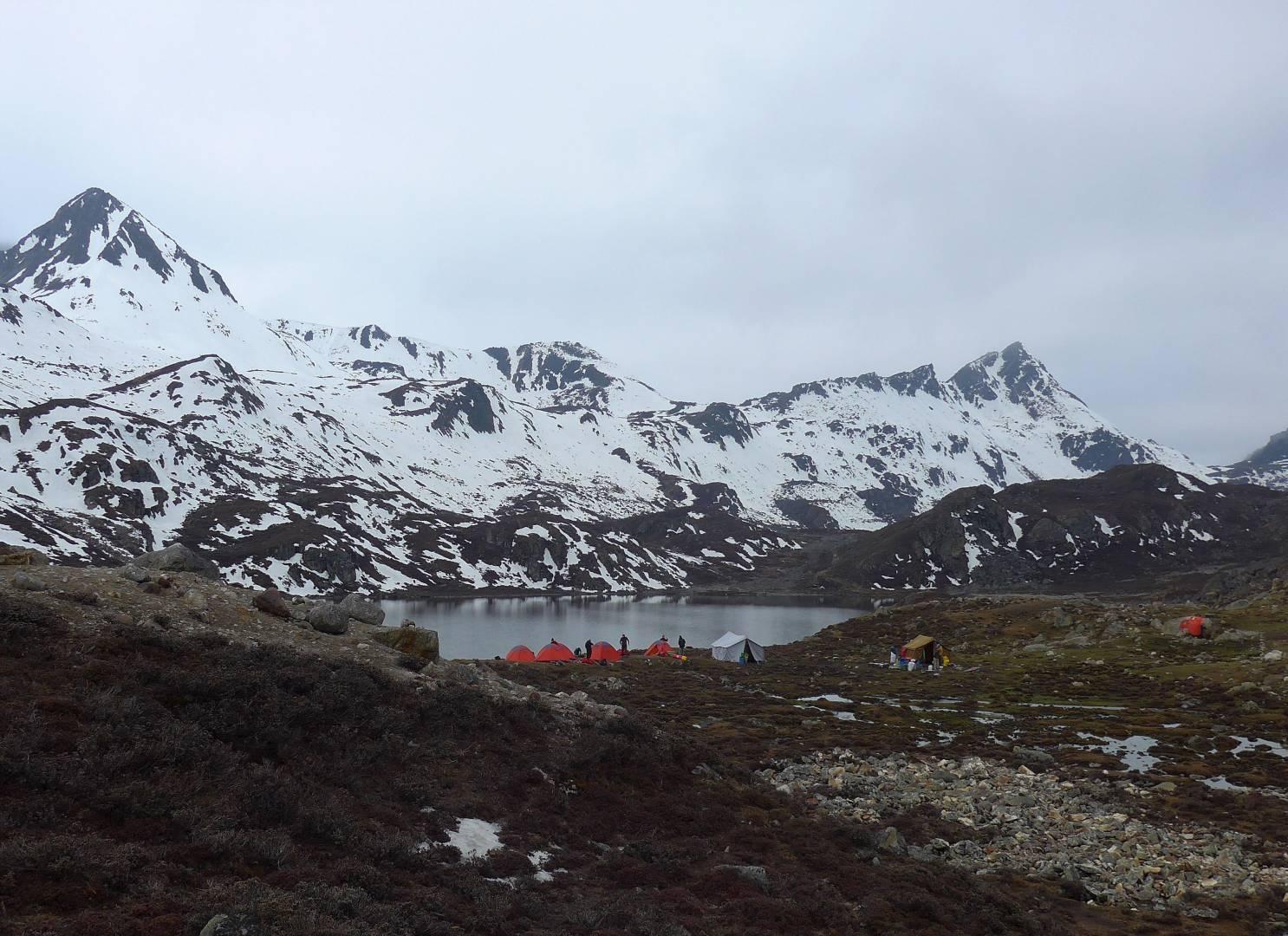 The next campsite. Higher still, near 4,800metres