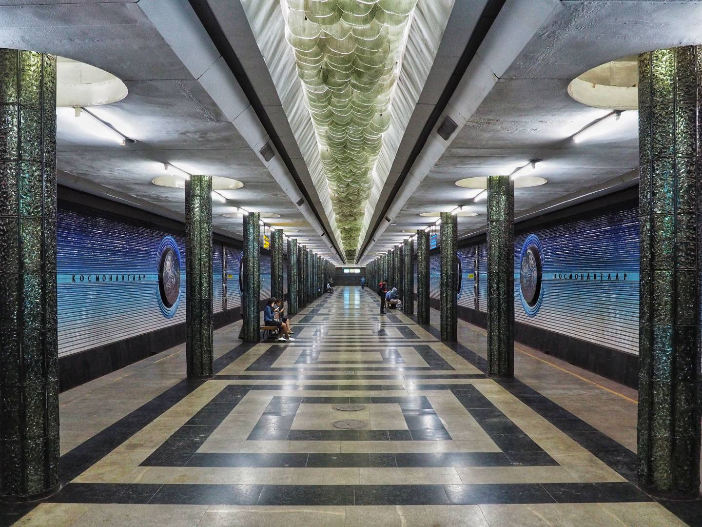 Subway station in Tashkent, Uzbekistan