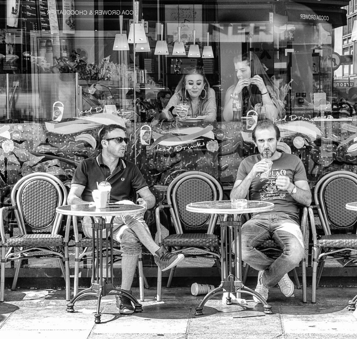 Soho Cafe with the Leica Monochrom, Mark I. Image Mike Evans