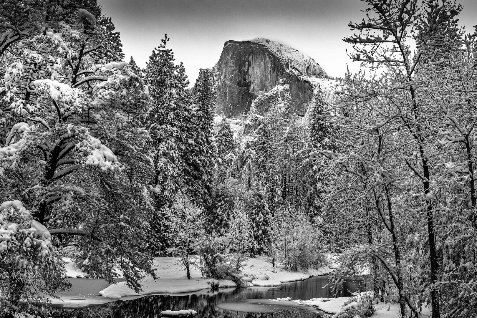 Half Dome – taken from the bridge in the valley