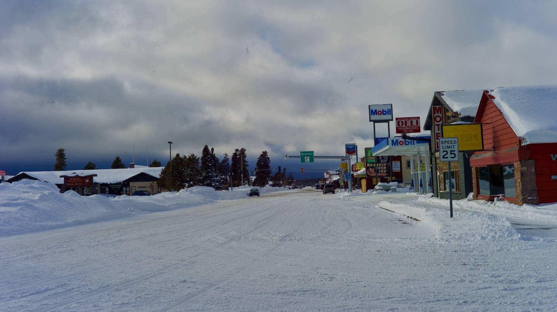 Snowbound West Yellowstone