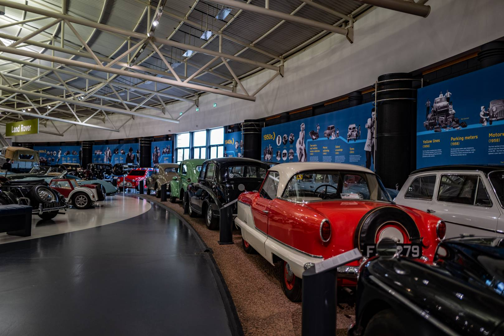 The museum is dedicated to cars made in Britain at a time when the industry was one of the leading members of the world automotive industry. Sadly, in the late 1960s and 1970s, strikes, poor quality and a multitude of management problems virtually killed off the British car.