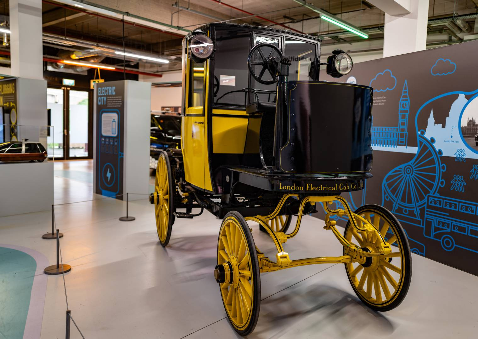 The I-Pace isn't all that revolutionary after all. This London Electrical Cab Co vehicle is an example of one of rthe earliest applications of electric power in road transport