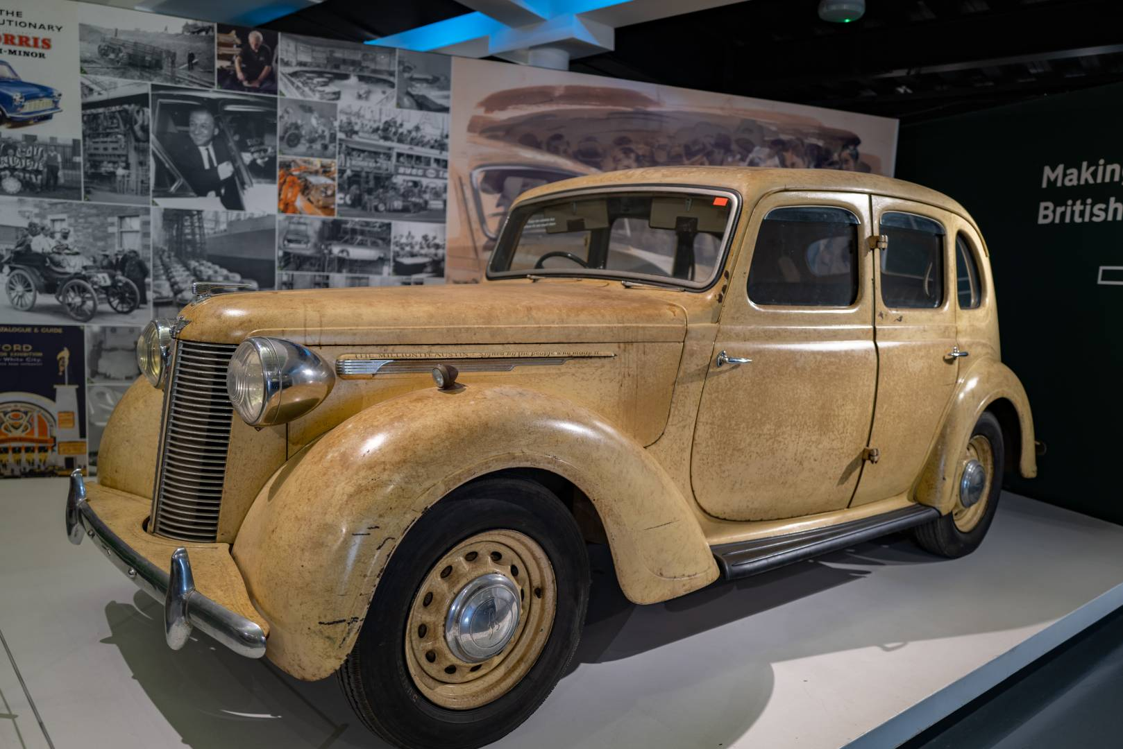 Them were the days: The Millionth Austin, signed by all the employees as the Longbridge factory. Beneath the monikers is an Austin Sixteen, made on 25 June 1946.