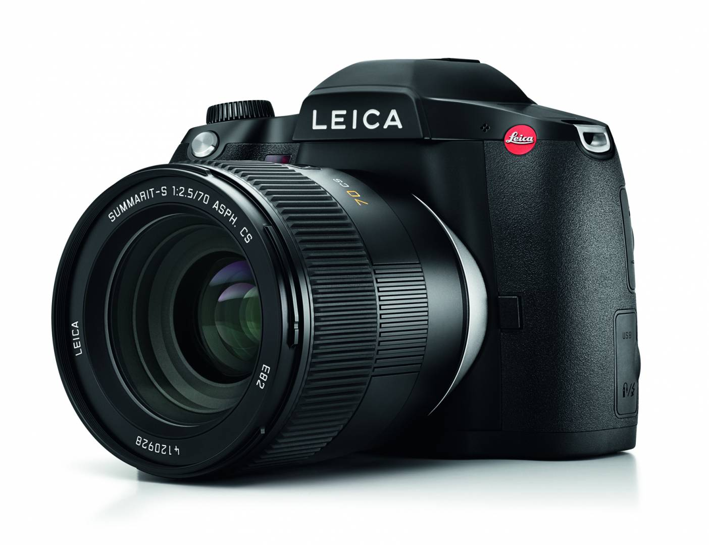 """The new Leica S3 with the """"standard view"""" 70mm Summarit-S ASPH (image Leica Camera AG)"""