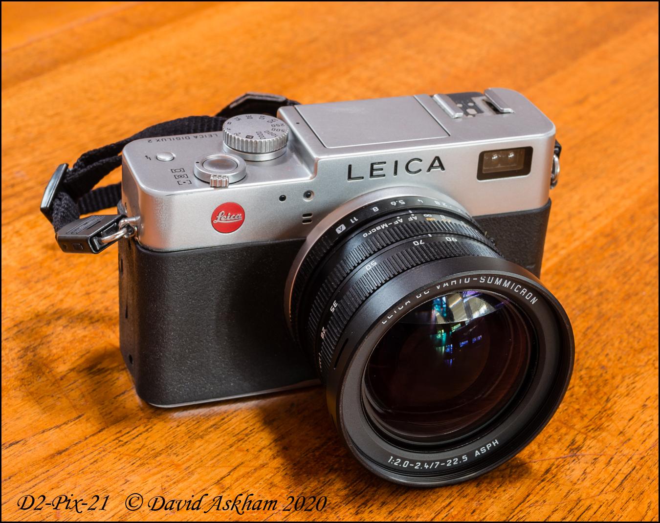 Leica Digilux 2 less the lens hood (Taken with Leica X-Vario)