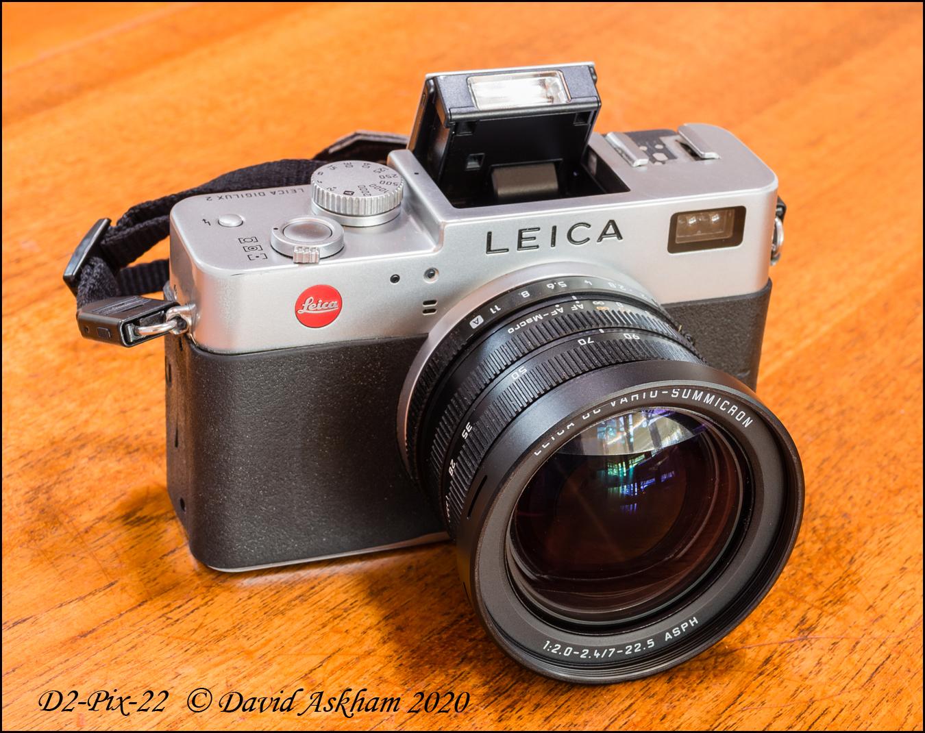 Digilux 2 with flash set to 45° (Taken with Leica X-Vario)