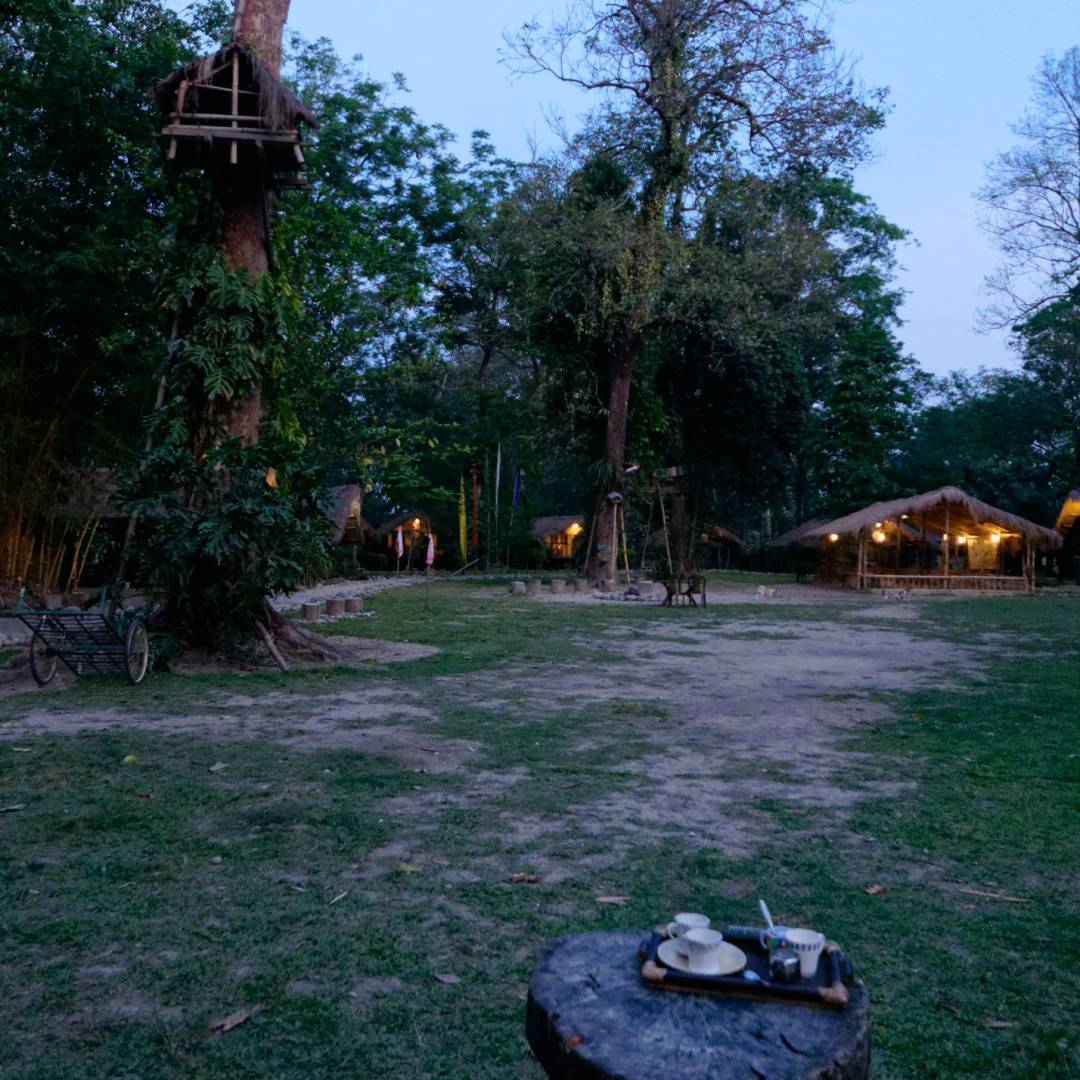 Evening at Potasali where it is quiet but for the sound of cicadas