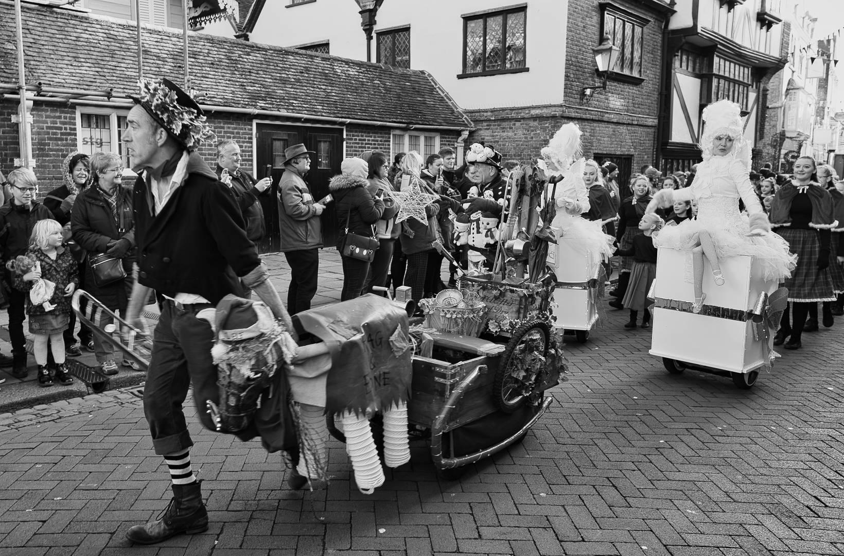 Image 16 – Rag and Bone – The Christmas Rag and Bone man, followed by Segway Fairies. Shot on Nikon Df and 24mm 1.8G