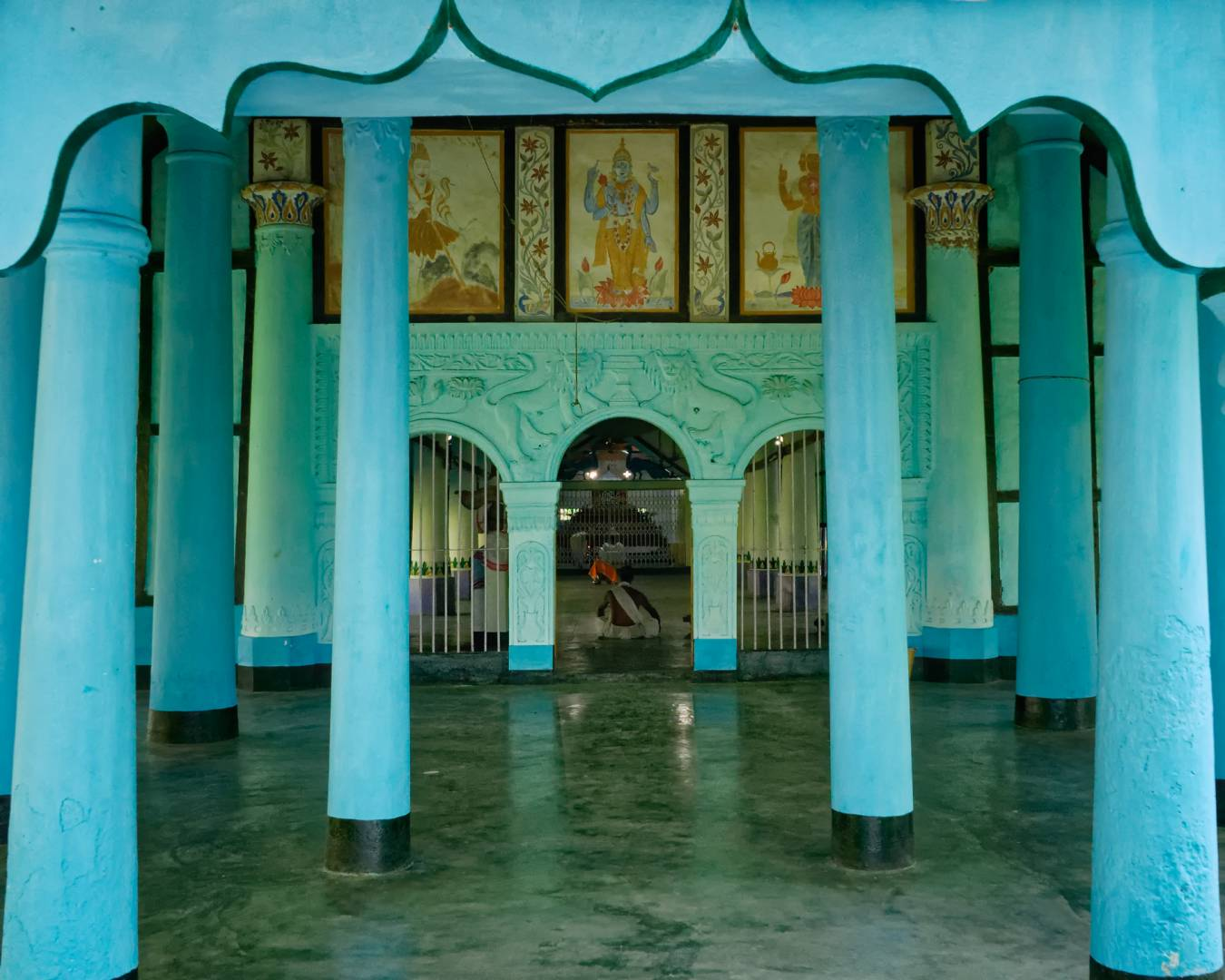 The prayer hall or namghar of Uttar Kamalabari Satra