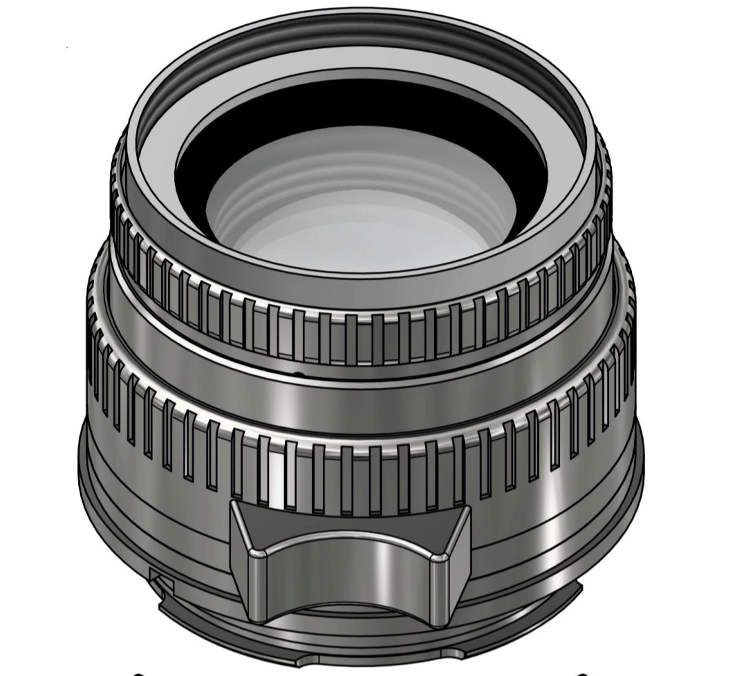 The 5cm f/2 Skyllaney Bertele, a traditional Sonnar lens made in England. No price yet. Skyllaney is planning an enhanced version that will overcome the (Zeiss) Sonnar's notorious focus shift.