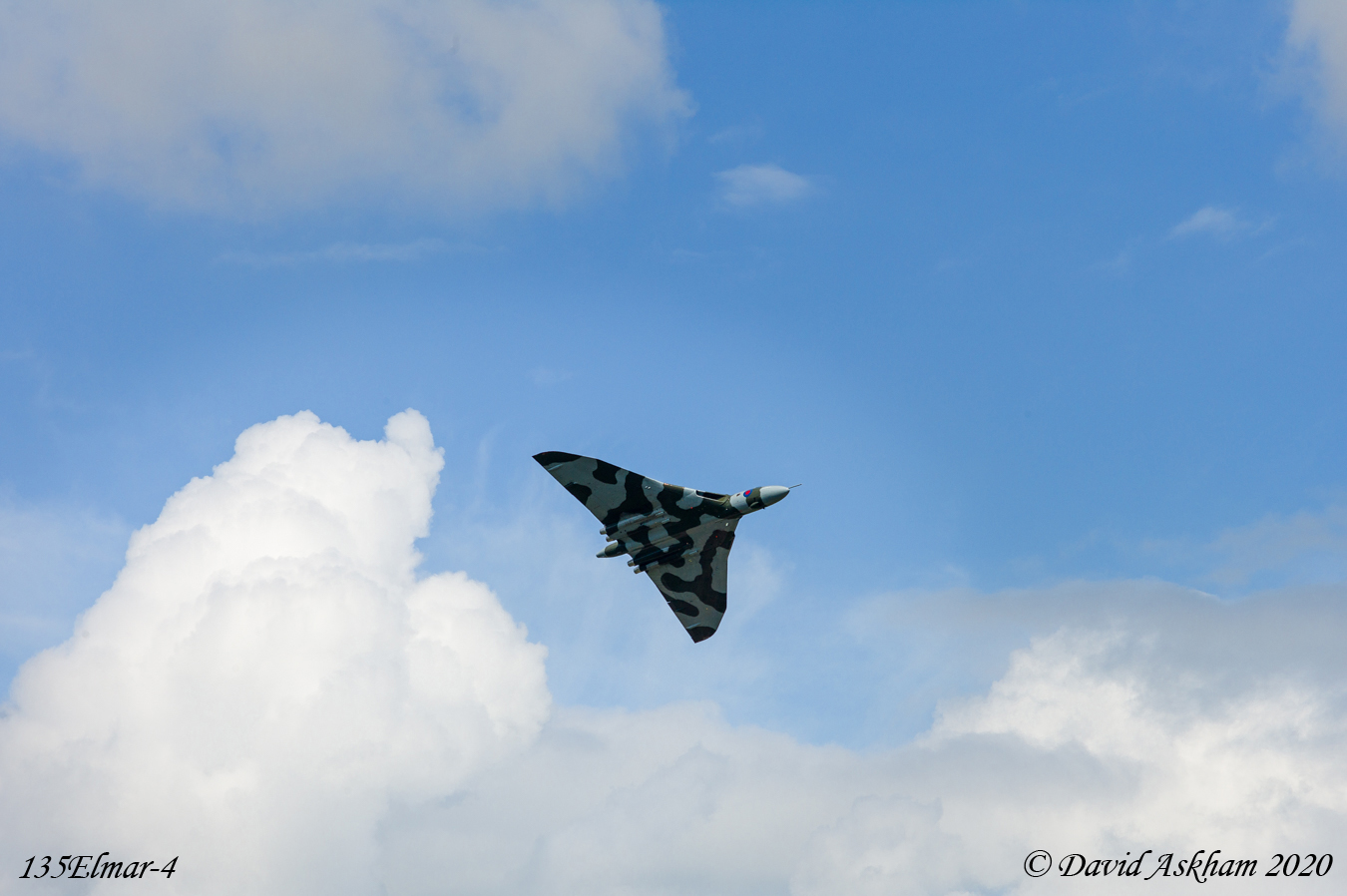 Ground to air shot of Avro Vulcan nuclear bomber at an air show in UK (Leica M9 with Leica 135mm f/4 Elmar lens)
