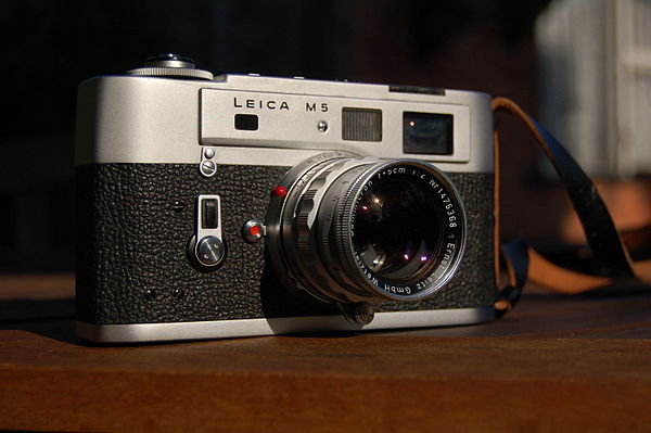 Leica M5. It didn't please Leica fans at the time but it's a great camera if you can find one in good working condition (photo Wiki Commons)