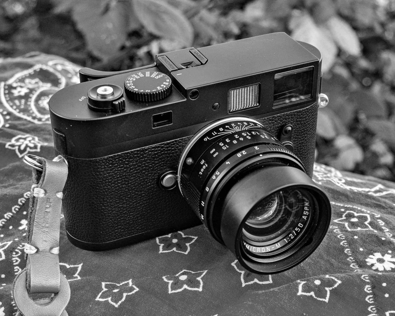 The Mark I Monochrom, introduced in late 2012, is stil highly desirable. This camera is wearing the 50mm Apo-Summicron-M lens which was designed specifically wiht the Monochrom in mind.