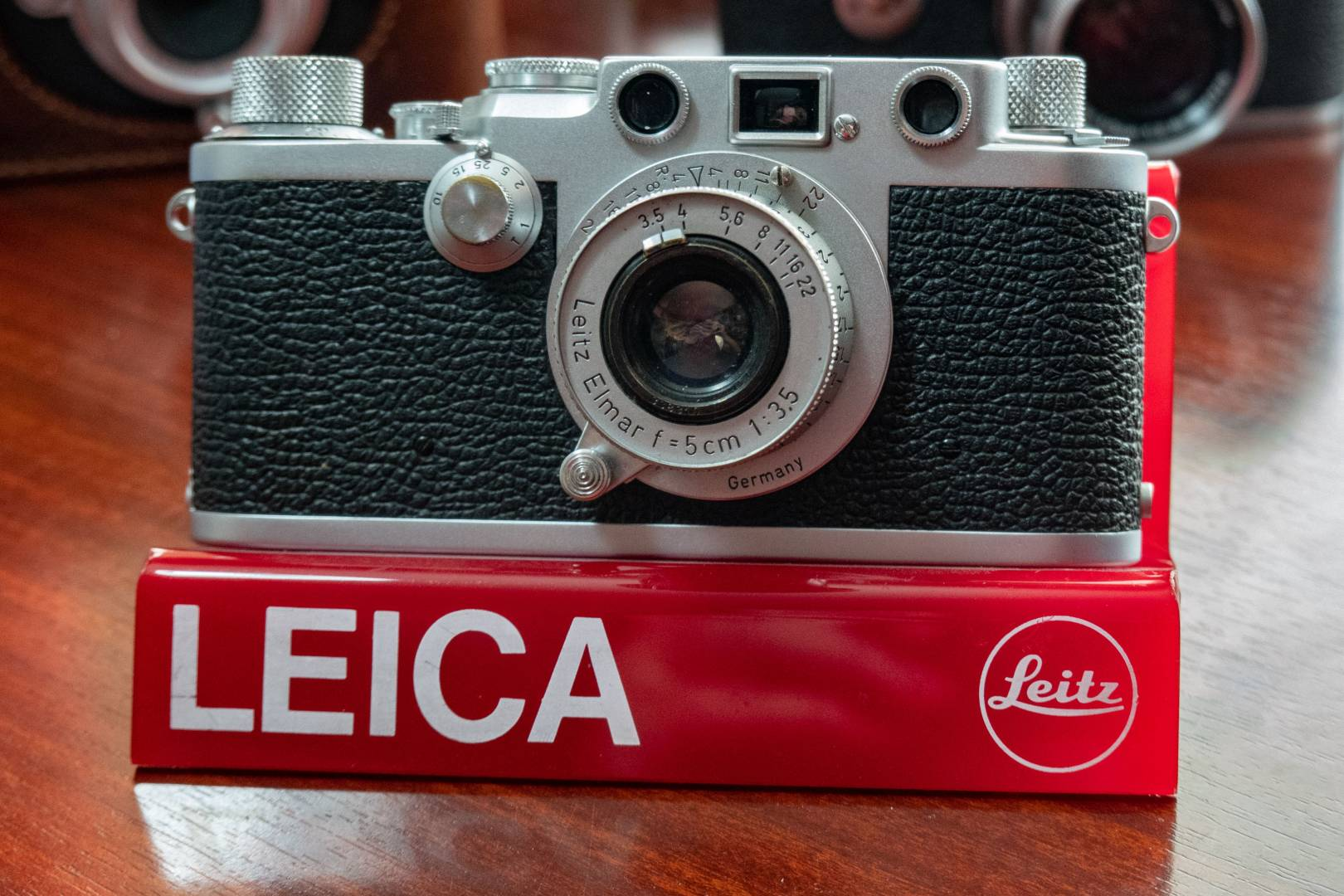 This Leica IIIf (red dial) is an excellent starter for your collection. And the 5cm f/3.5 Elmar is the archetypal standard lens. Every Leica collector has at least one of these and it won't cost you an arm and a leg.
